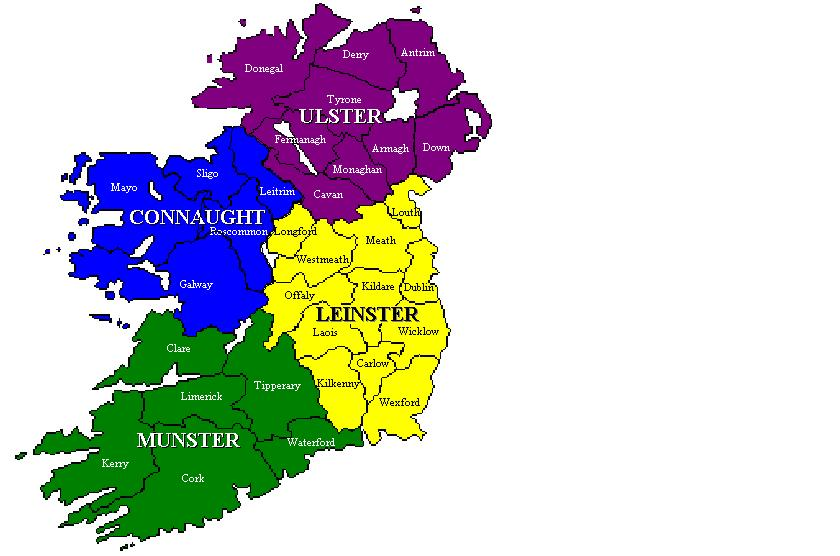 Map Of Ireland With Counties And Provinces.Ireland Summer Report 2010 Predict Weather The Home Of Long
