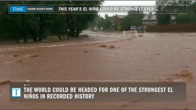 El Nino strongest ever?