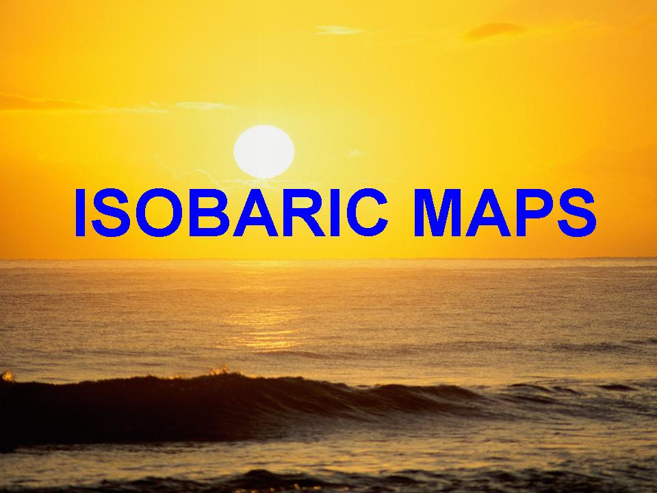 Isobaric Maps for Australia and NZ