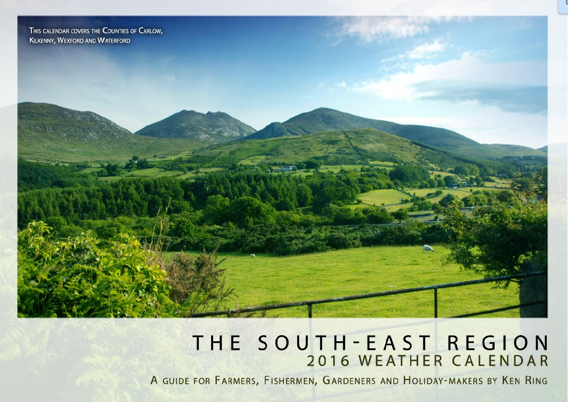 2016 Weather Calendars for Ireland Provinces